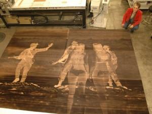 Laser Engraved Wood Printing Plate