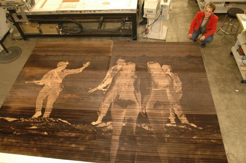 Laser Cutting Inc Laser Engraved Wood Printing Plate