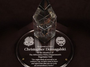 Laser Engraved Glass Award