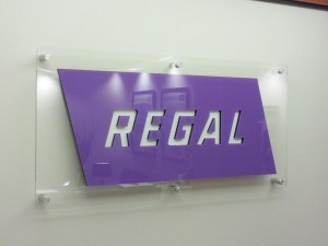 Plexiglass Logo Sign for an Office Interior