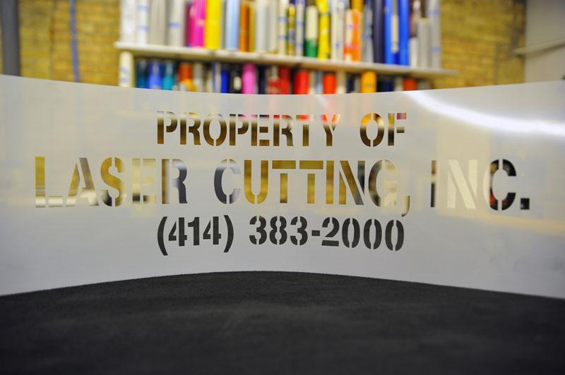 laser cut mylar stencils
