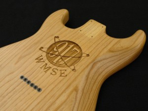 Laser Engraved Wood Guitar Body