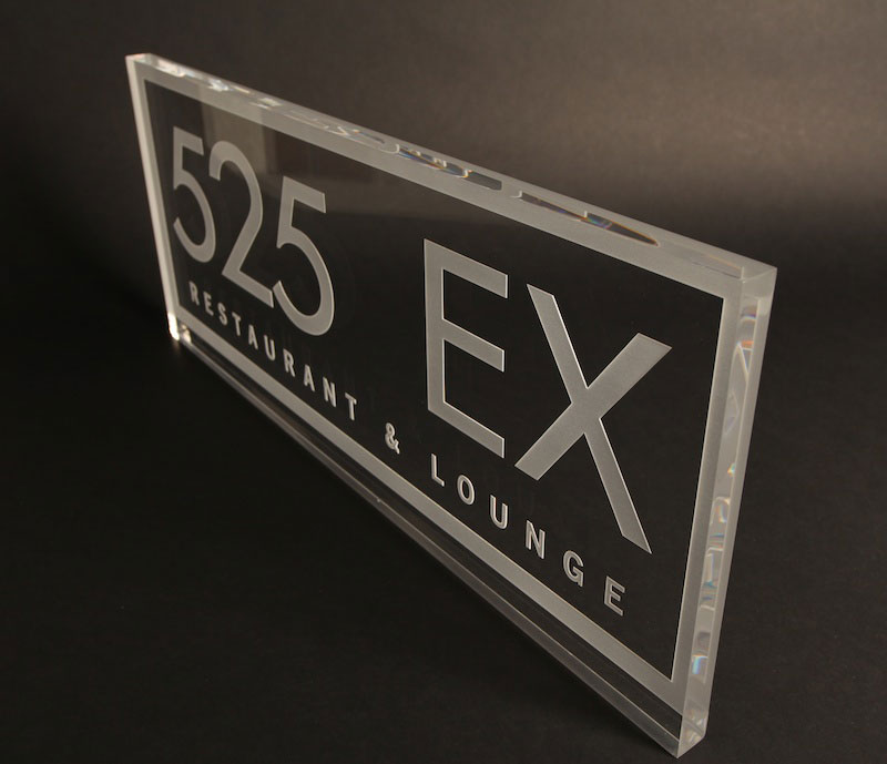Laser Cut Laser Engraved Acrylic Plaque