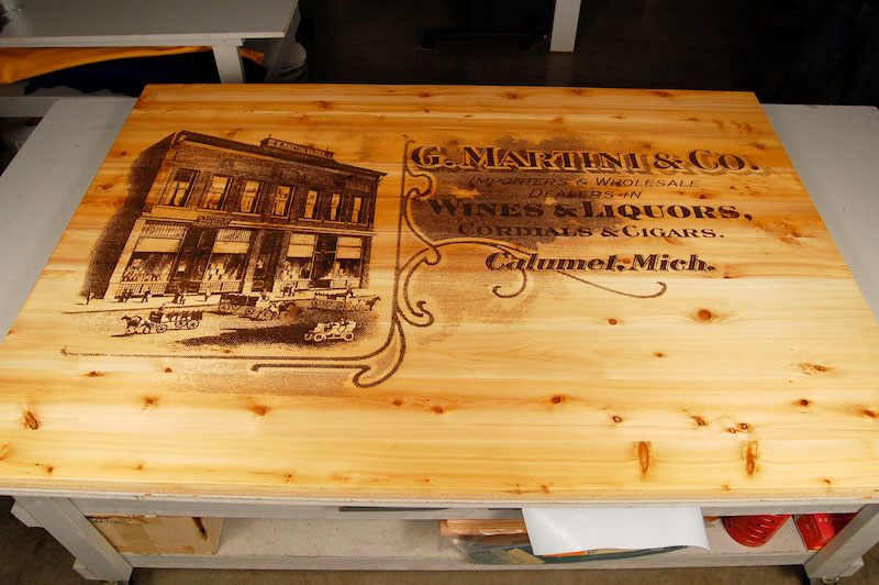 laser cutting inc laser engraved wood signs produce a punch for