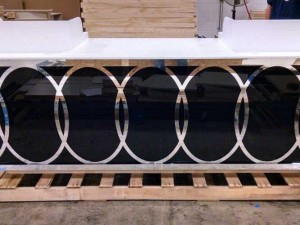 Mirrored Acrylic Display Counter