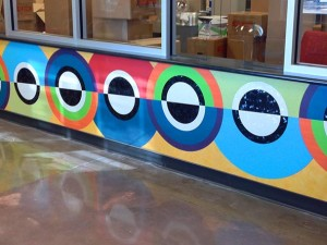Formica and MDF Inlay Wall Mural