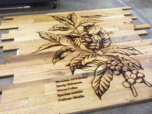 Large Format Wood Wall Cladding Laser Engraving