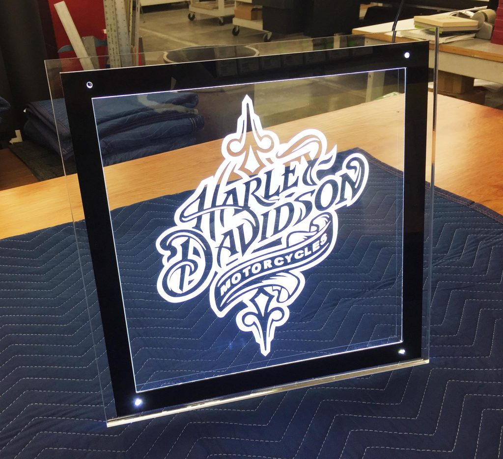 Custom Laser Engraved Acrylic LED Sign Panels