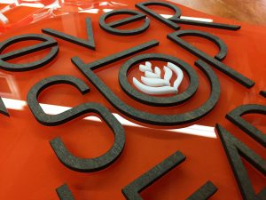 Mixed Acrylic Wood Sign